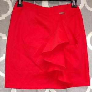 Guess red skirt